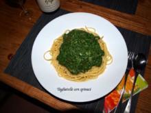 Tagliatelle con spinaci - Rezept
