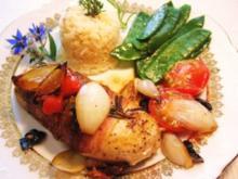 Hähnchenbrustfilets mit mediterraner Füllung - Rezept