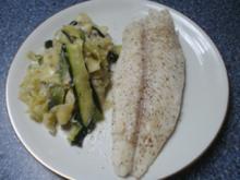 Fisch mit Zucchini-Nudeln - Rezept