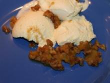 Karamell Nüsse und Pflaume für Vanille Eis - Rezept
