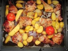 barbecue hühnerkeulen - Rezept