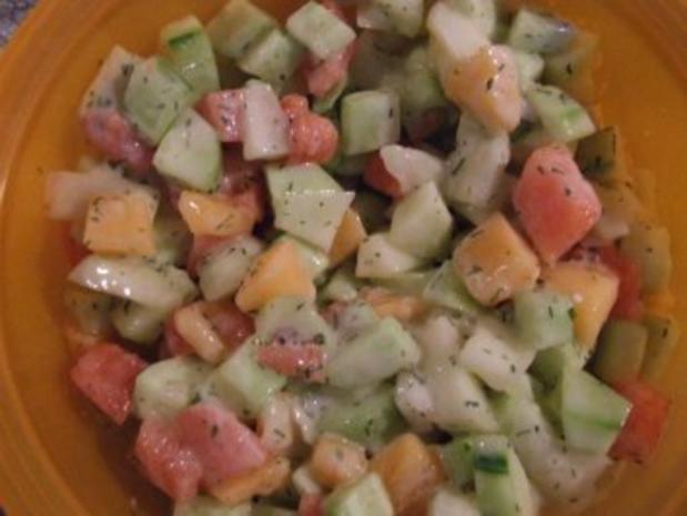 Melonen-Gurken-Salat - Rezept - Bild Nr. 2
