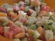 Melonen-Gurken-Salat - Rezept