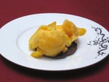 Mango-Limetten-Eis mit Schoko-Minz-Taler - Rezept
