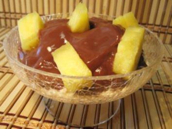 Rezept: Ananas-Dessert - geht ganz fix ...