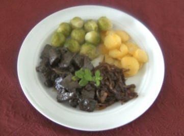 Rezept: Lebergeschnetzeltes mit Balsamico - Zwiebeln