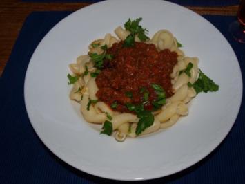 Pasta mit Lebersauce  (Pasta con fégato) - Rezept