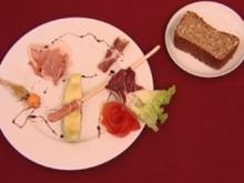 Vorspeisenteller, selbstgebackenes Dinkel-Vollkornbrot (Jörn Schlönvoigt) - Rezept