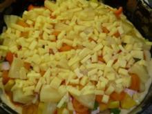 Pizza mit Quark - Öl - Teig - Rezept
