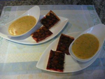 SUPPE /KUCHEN:Kartoffelsuppe trifft Zwetschenkuchen - Rezept