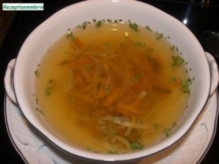 Suppe:    RINDFLEISCHBRÜHE..... frisch gekocht - Rezept