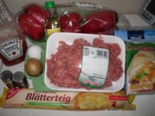 Hack Strudel mit Käse - Rezept