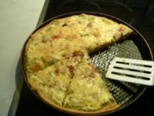 Zucchini-Lauch Pizza - Rezept