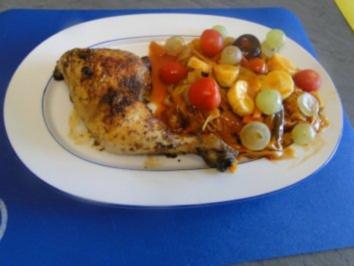 Woknudeln mit Gemüse und Obst -fruchtig-scharf       (Fotos) - Rezept