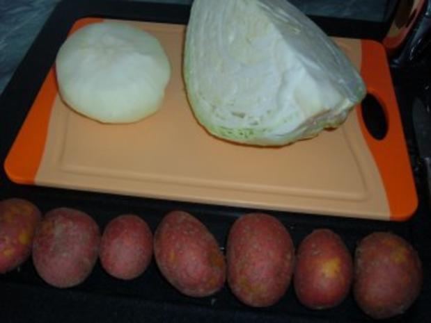 Gemüse : Weißkohl - Kohlrabi - Kartoffel -Topf - Rezept - Bild Nr. 2