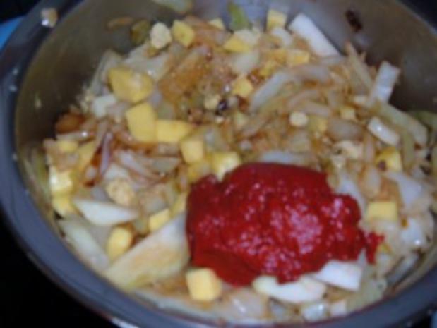 Gemüse : Weißkohl - Kohlrabi - Kartoffel -Topf - Rezept - Bild Nr. 5