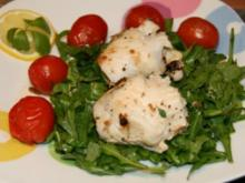 Fisch: gebackene Schollenröllchen - Rezept