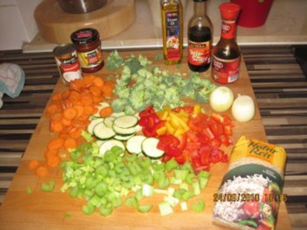 Bunte Curry-Gemüsepfanne mit Kokosmilch - Rezept - Bild Nr. 2