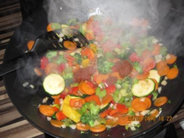 Bunte Curry-Gemüsepfanne mit Kokosmilch - Rezept - Bild Nr. 4