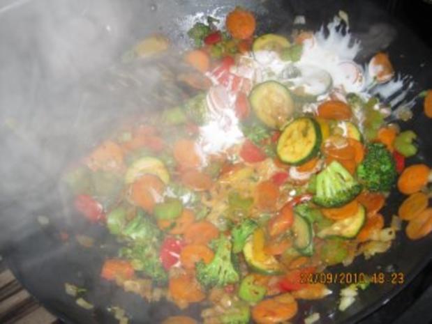 Bunte Curry-Gemüsepfanne mit Kokosmilch - Rezept - Bild Nr. 5