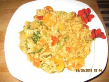Bunte Curry-Gemüsepfanne mit Kokosmilch - Rezept