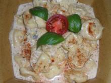 Tortellini in Gorgonzola-Sahne-Sauce - Rezept