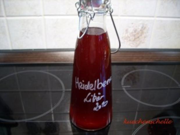Likör: Heidelbeere - Rezept