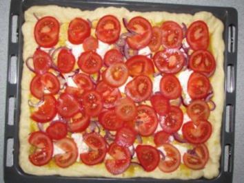 Tomaten-Blechkuchen - Rezept