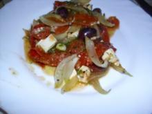 Schmortomaten mit Feta - Rezept
