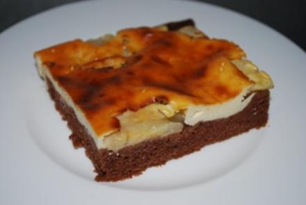 Apfelkuchen mit Mascarponeguss - Rezept