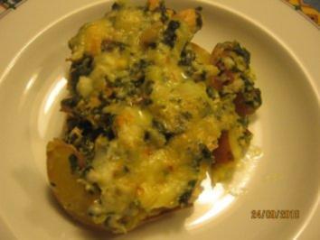 Lachs-Spinat mit Kartoffeln überbacken - Rezept
