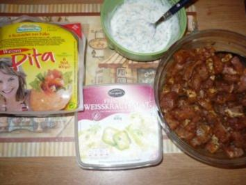 Pitataschen mit Gyros - Rezept