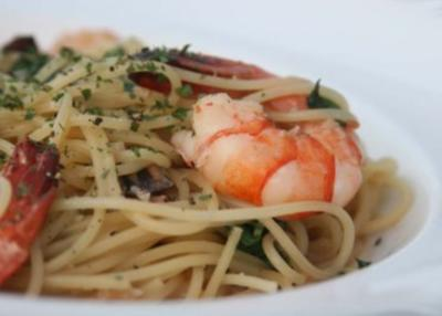 Spaghetti mit Meeresfrüchten - Rezept