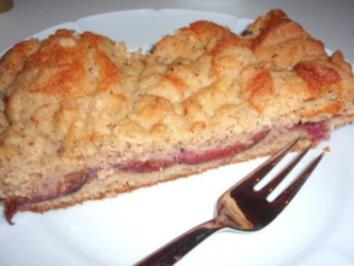 Kuchen: Zwetschgenkuchen mit Streuseln - Rezept