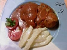 Fleisch: Geschmorte Kalbshaxe - Rezept