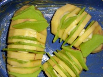 Fächerkartoffeln mit Wasabikäse - Rezept