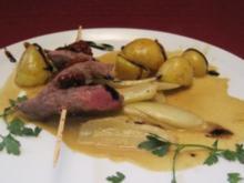 Lammspieß mit Fenchel und Rosmarinkartoffeln - Rezept