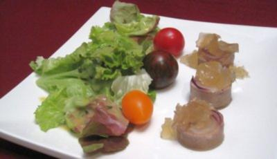 Kalbszunge auf frischen Salaten - Rezept