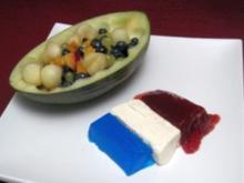 Le Melon au Pineau et fromage - Rezept