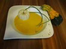 Kürbis - Orangencrèmesüppchen - Rezept