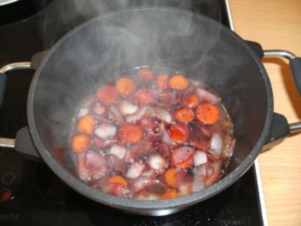 Fleisch: Rinderbäckchen mit Holundersirup - Rezept - Bild Nr. 4
