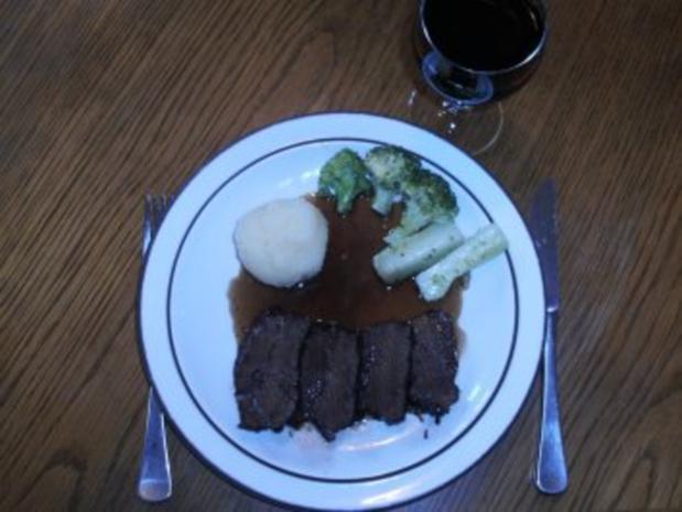 Fleisch: Rinderbäckchen mit Holundersirup - Rezept