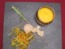 Coquilles St Jacques et son espuma de carottes-cumin - Rezept