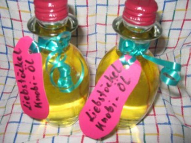Verschiedenes: Liebstöckel-Knoblauch-Öl - Rezept - Bild Nr. 7