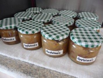 Rezept: Marmelade : Apfelmus mit Rosinen