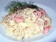 Tagiatelle mit Lachs-Meerrettich-Dill-Sauce - Rezept