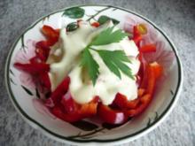 Salate : Paprika mit Dressing - Rezept
