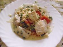 Gebratener Reis mit Fischhappen - Rezept