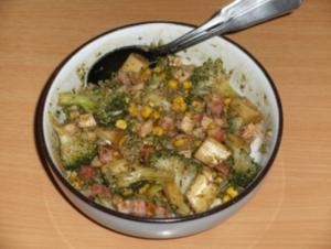Beilage: Brokkolisalat mit Kürbiskernöl - Rezept