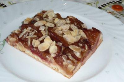 Kuchen: Zwetschgenkuchen mit Mandeln - Rezept